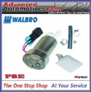 WALBRO IN TANK 450 LPH COMPETITION RACING COMPACT FUEL PUMP WITH FITTING KIT